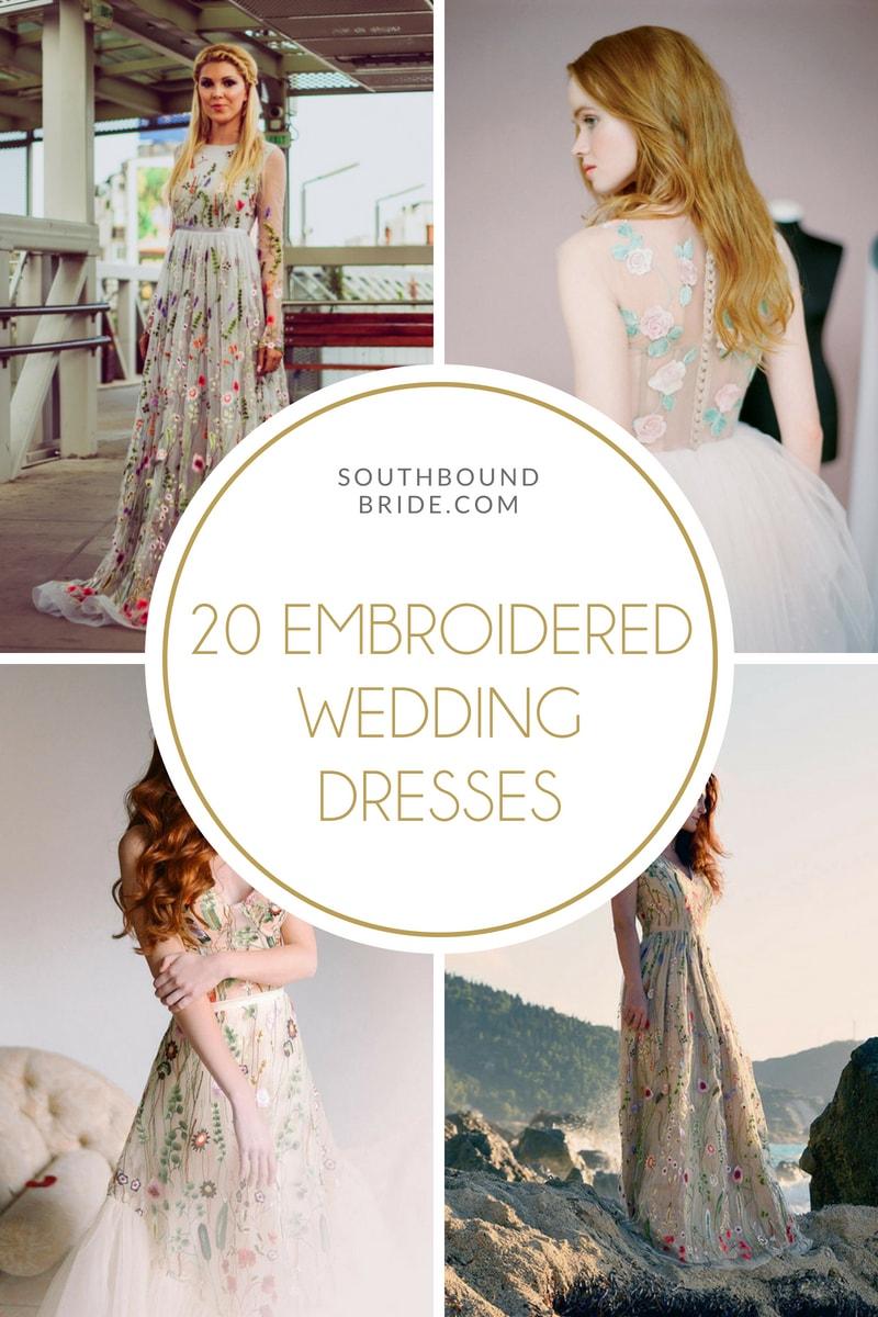 Trend Alert: Embroidered Wedding Dresses | SouthBound Bride