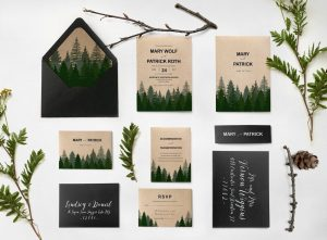 Printable Forest Wedding Invitations