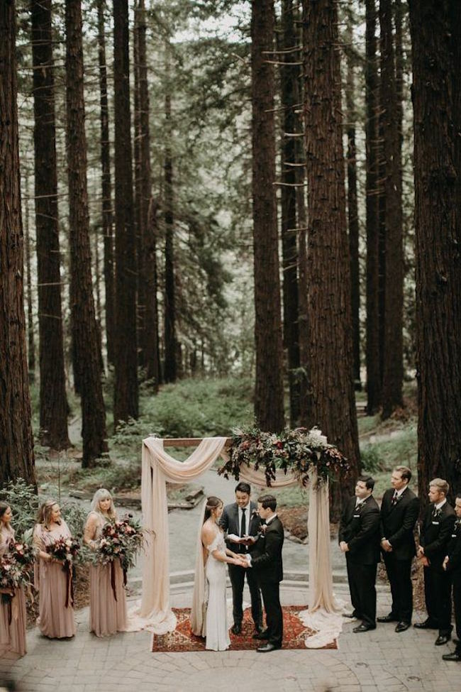 20 Magical Forest Wedding Ceremony Setups | SouthBound Bride