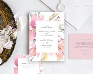 Romantic Wedding Invitation Printable
