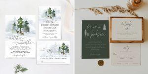 Printable Forest Wedding Invitations