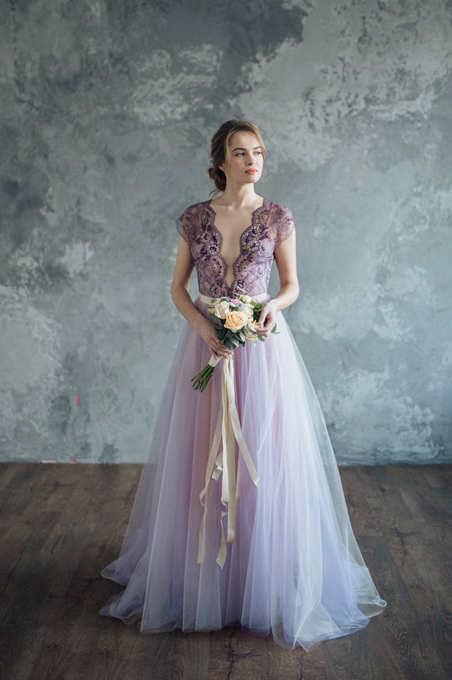Lilac lavender wedding dresses southbound bride pale blush purple wedding dress by sumarokova atelier junglespirit Choice Image