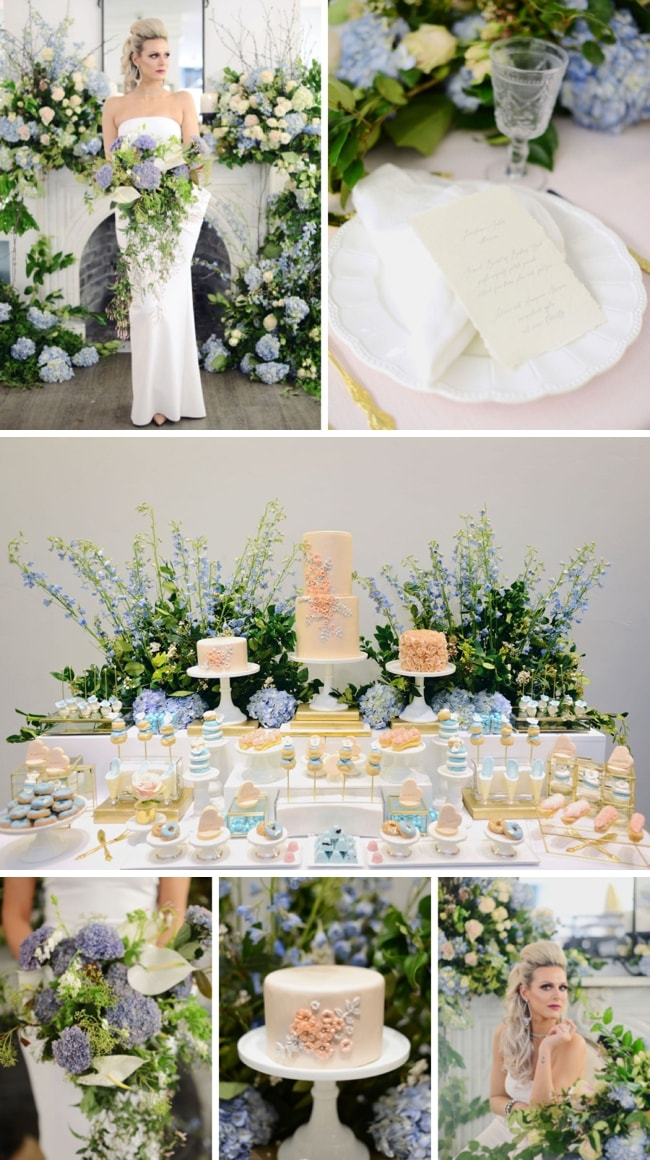 Modern Marie Antoinette Wedding Inspiration by Kathy Demerchant Photography | SouthBound Bride