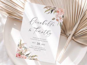 Bohemian Wedding Invitation Printable