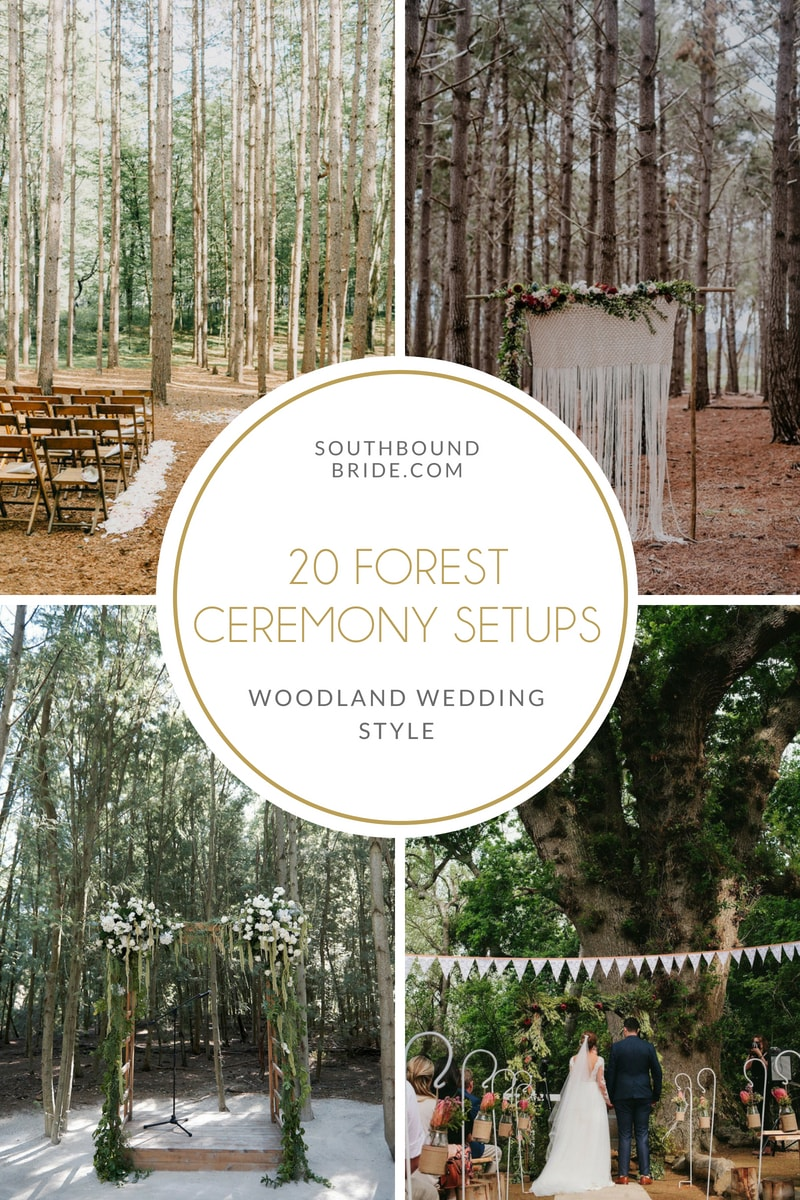20 Magical Forest Wedding Ceremony Setups | SouthBound Bride