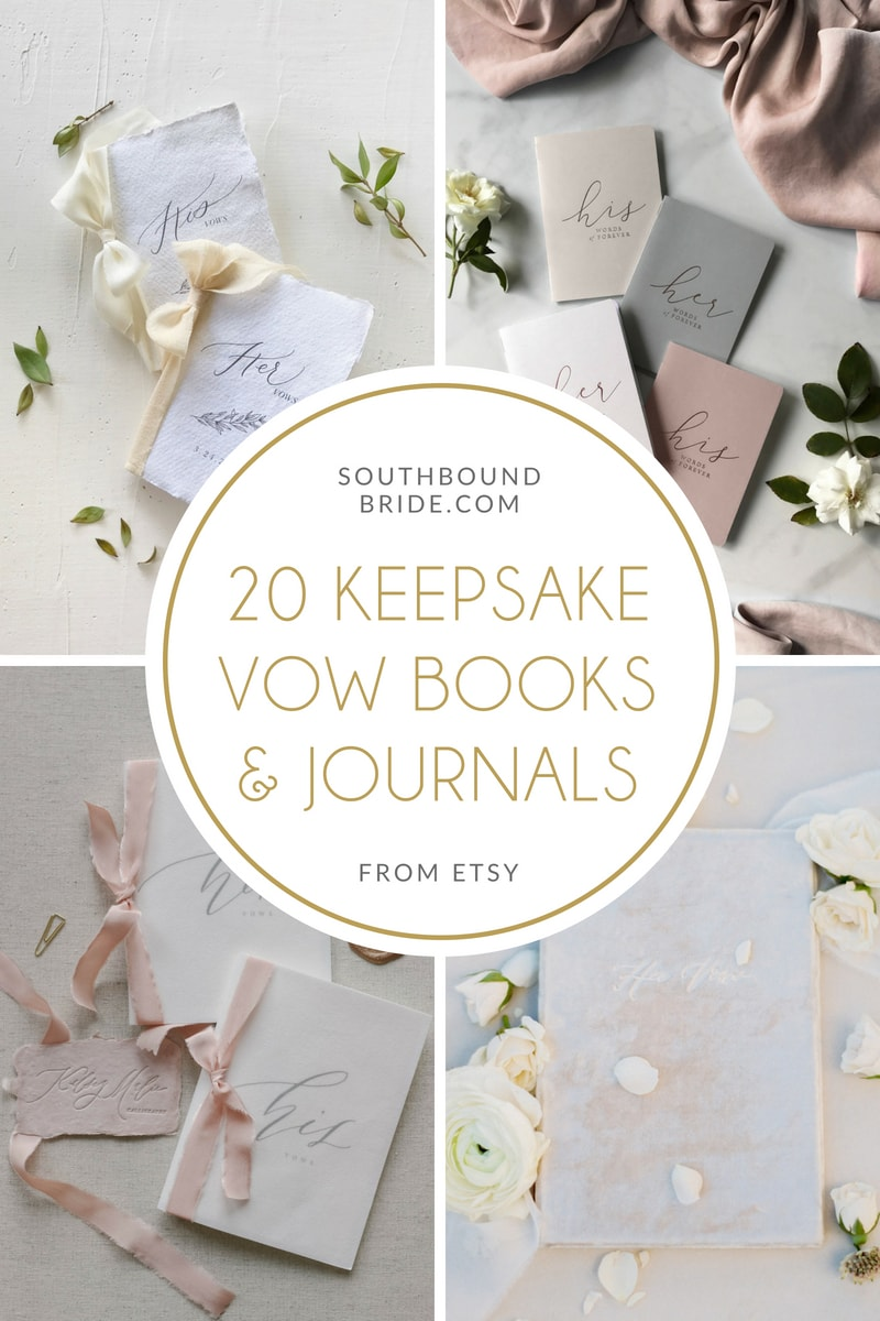 20 Beautiful Keepsake Wedding Vow Books | SouthBound Bride