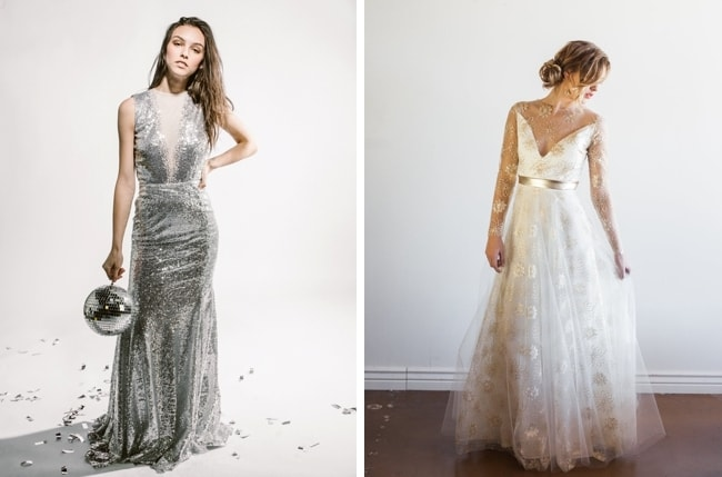 c4e8b7c67890 Unique Sparkly A-line Wedding Dress by Boom Blush (top)