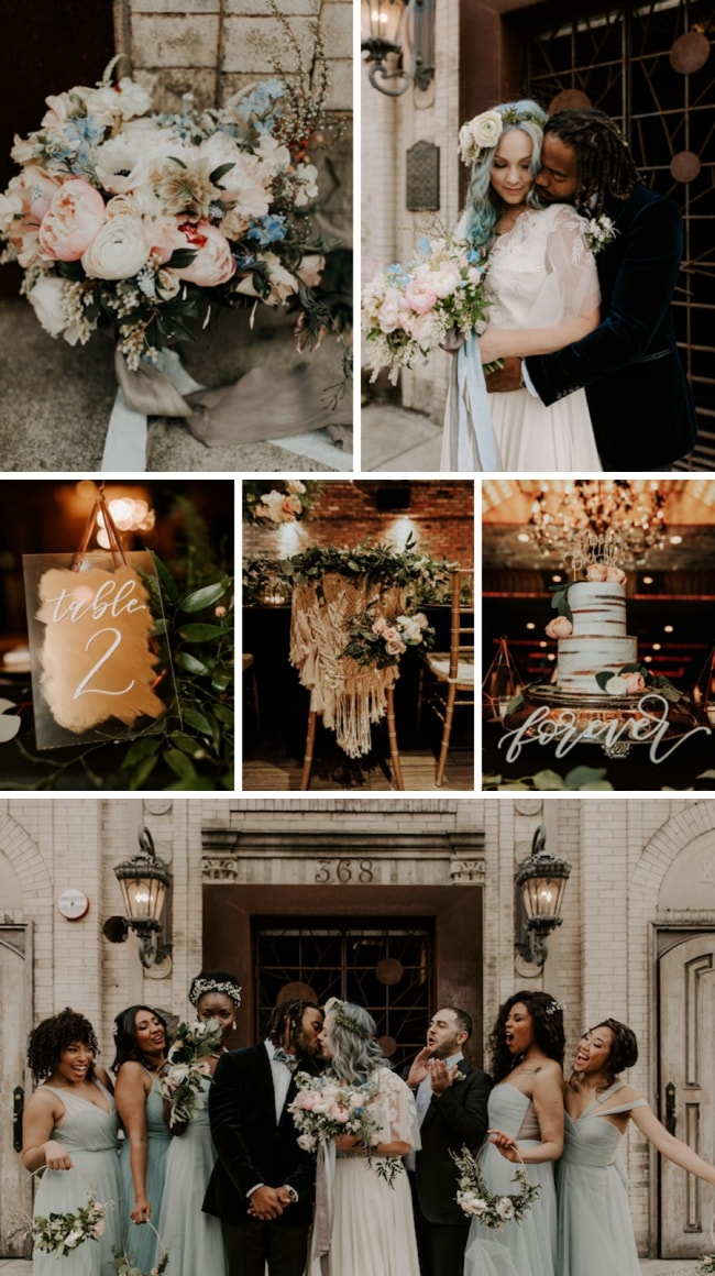 Brooklyn Bohemian Wedding Inspiration by Kaleigh Rae Photography | SouthBound Bride