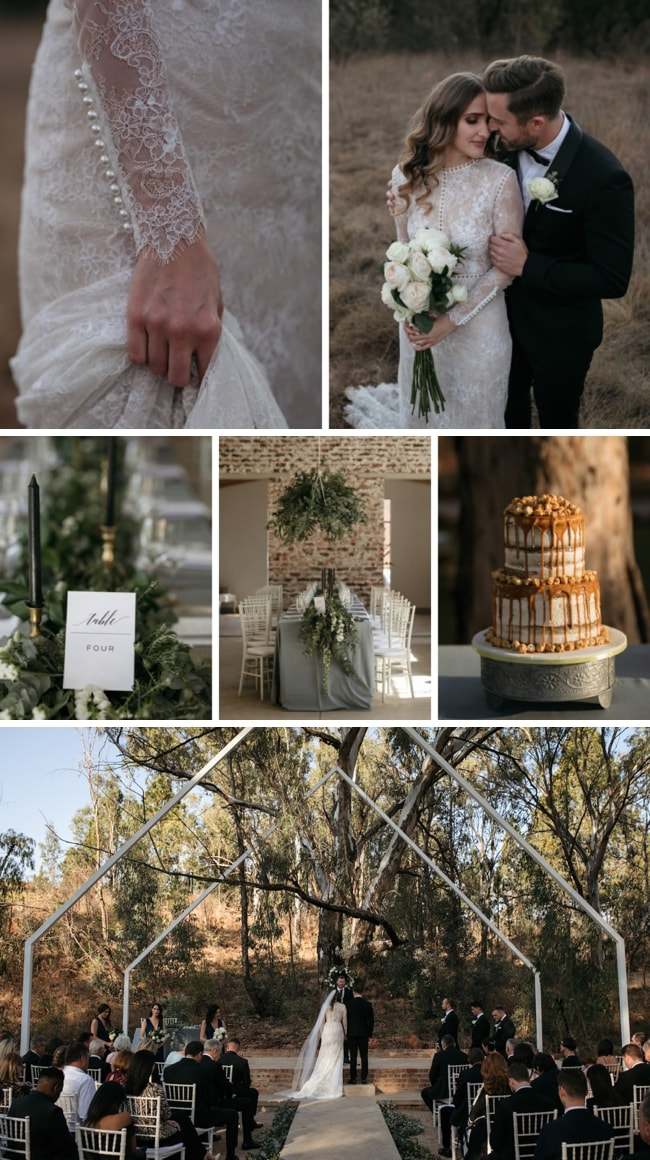 Industrial Rustic Black Tie Wedding at Lace on Timber by Page & Holmes | SouthBound Bride