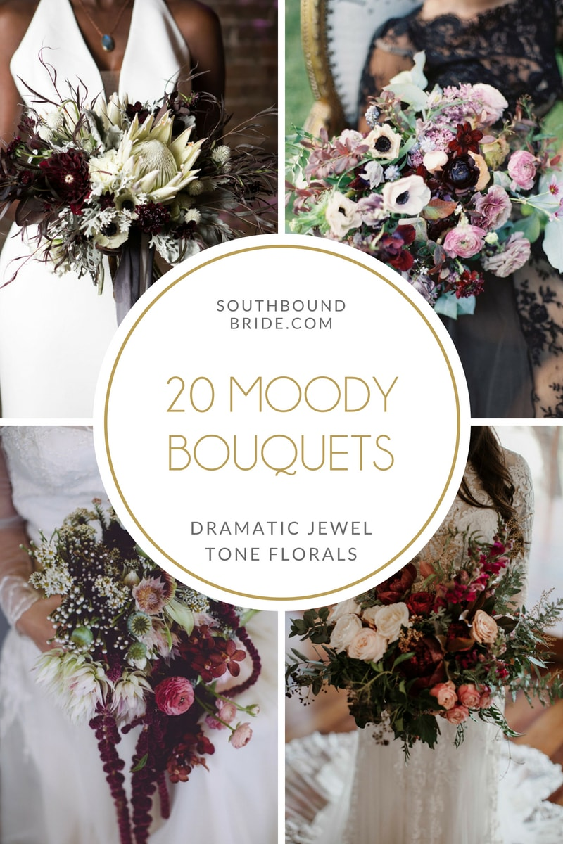 20 Dark & Moody Jewel Tone Bouquets | SouthBound Bride