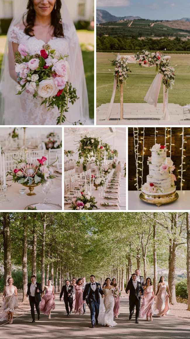 Romantic Modern Wedding at Lourensford by The Mosaic Wedding Company and Lad & Lass | SouthBound Bride