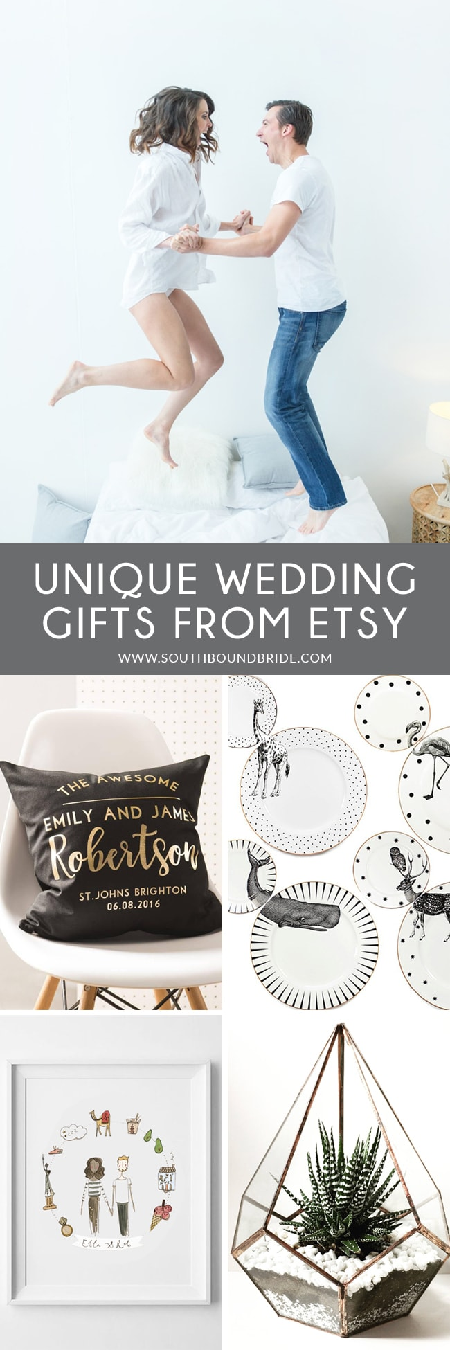 20 Unique Handmade Wedding Gifts from Etsy | SouthBound Bride