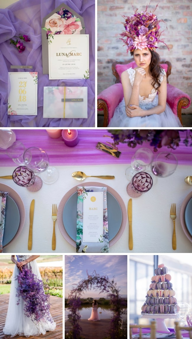Pink Sunset & Ultra Violet Wedding Inspiration by A Dream Come True Events | SouthBound Bride
