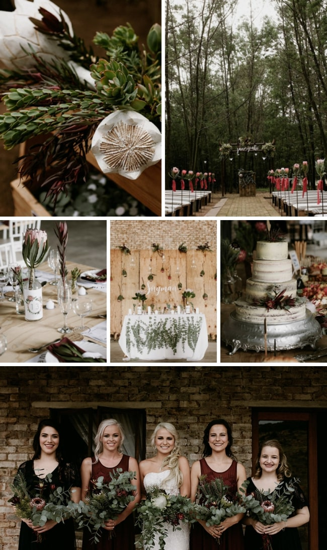 Moody Protea-filled Forest Wedding at De la Mas by Chris de Wet | SouthBound Bride