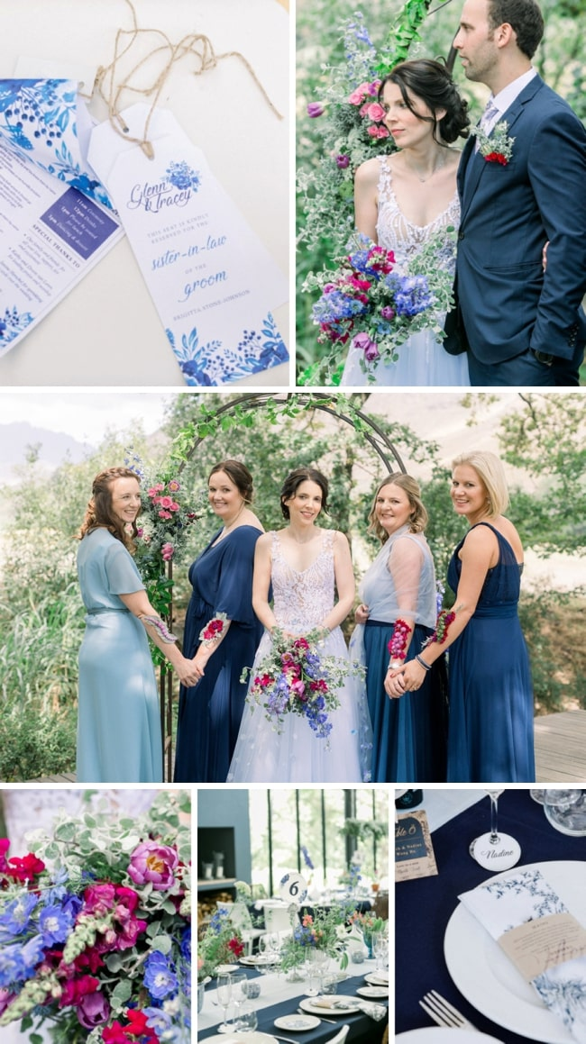 Secret Garden Wedding with Delft Details at The Conservatory by Jo Stokes | SouthBound Bride