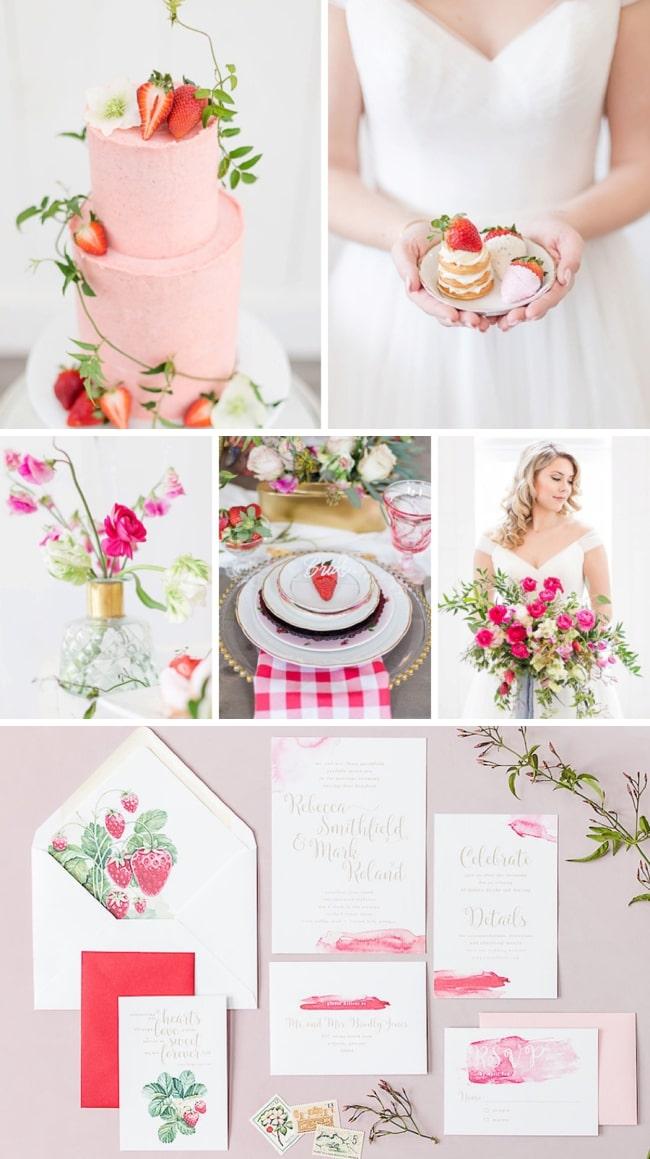 Strawberries & Cream Wedding Inspiration by Shannon Ford & Kenna Beth Bridal | SouthBound Bride