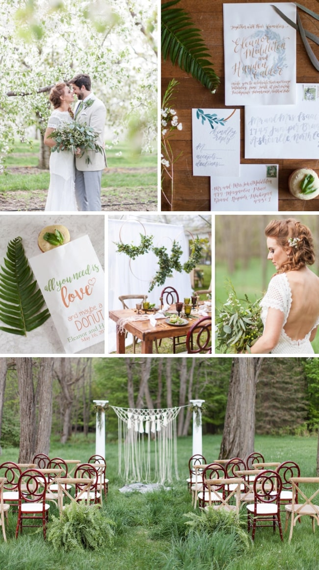 Woodsy Modern Boho Wedding Inspiration by Wren Photography and Juniper & Lace Events | SouthBound Bride