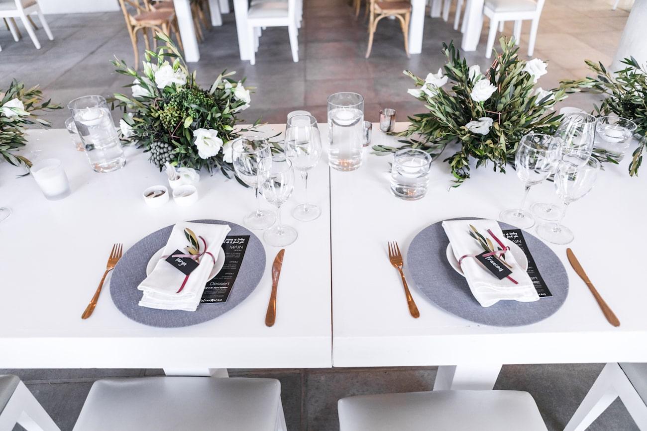 Modern Monochrome Greenery Wedding At White Light By Daniel West