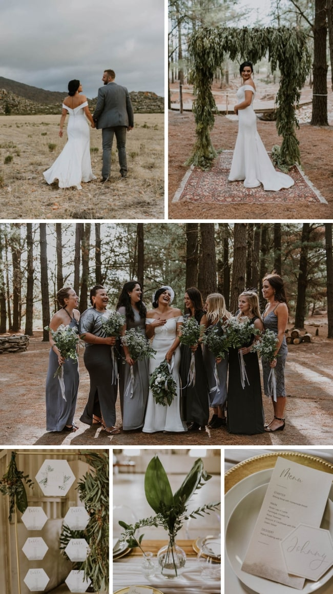 DIY Forest Greenery Wedding at Matroosberg by Claire Thomson Photography | SouthBound Bride
