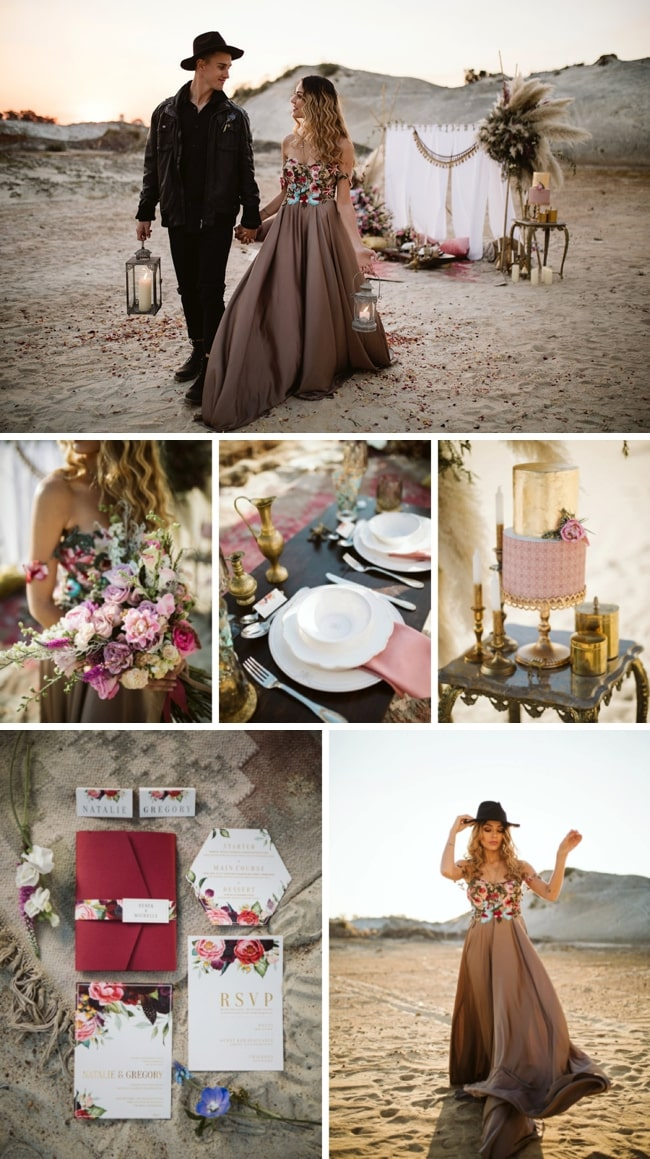 Nomadic Desert Boho Elopement Inspiration by Jessica Notelo & Fleur Dita | SouthBound Bride