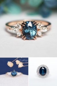 2021 Engagement Ring Trends Blue Engagement Rings
