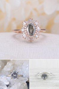 2021 Engagement Ring Trends Salt and Pepper Diamond Engagement Rings